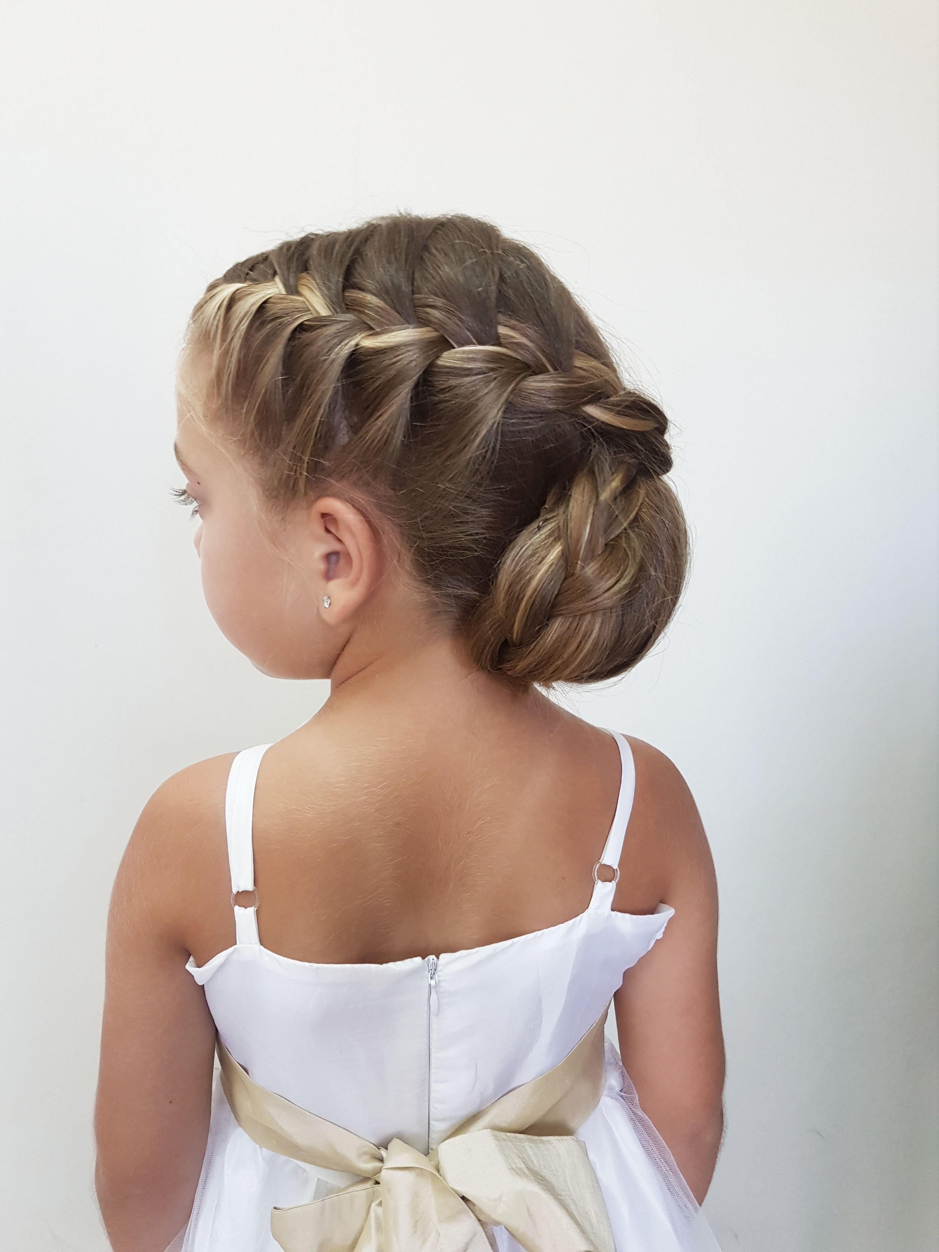 Pin By Emily Rector On Aubreys Hairstyles In 2019 Kids Hairstyles In 2020 Junior Bridesmaid Hair Kids Hairstyles For Wedding Kids Hairstyles