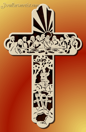 Scroll Saw Patterns Religious Inspirational Themed Picture Unique Scroll Saw Cross Patterns