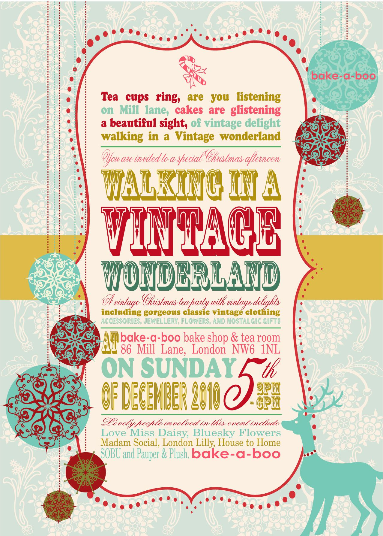 Retro Party Event Poster, like this but needs more typing space and less fuss?