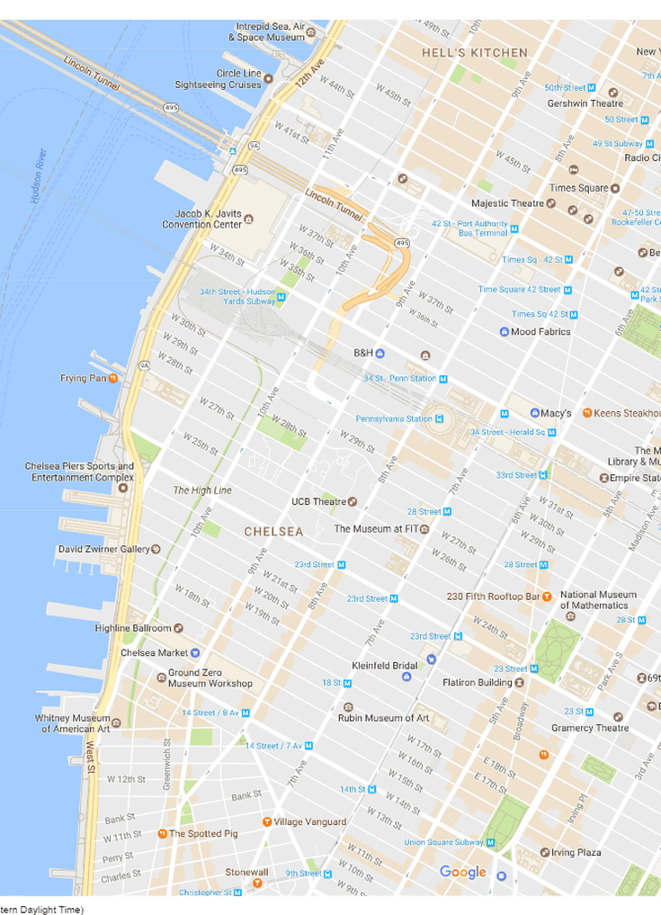 NYC Travel: Handy Map of Chelsea and the Garment District ...