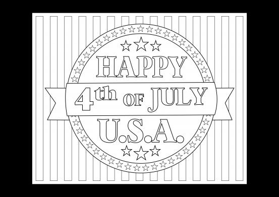 Free 4th of July Patriotic Printable