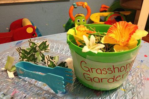 G week - grasshopper garden, using tongs | Tot School Activities ...