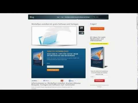 Werbeflyer erstellen, drucken inklusive Beispiele, Vorlagen und Software zum runterladen