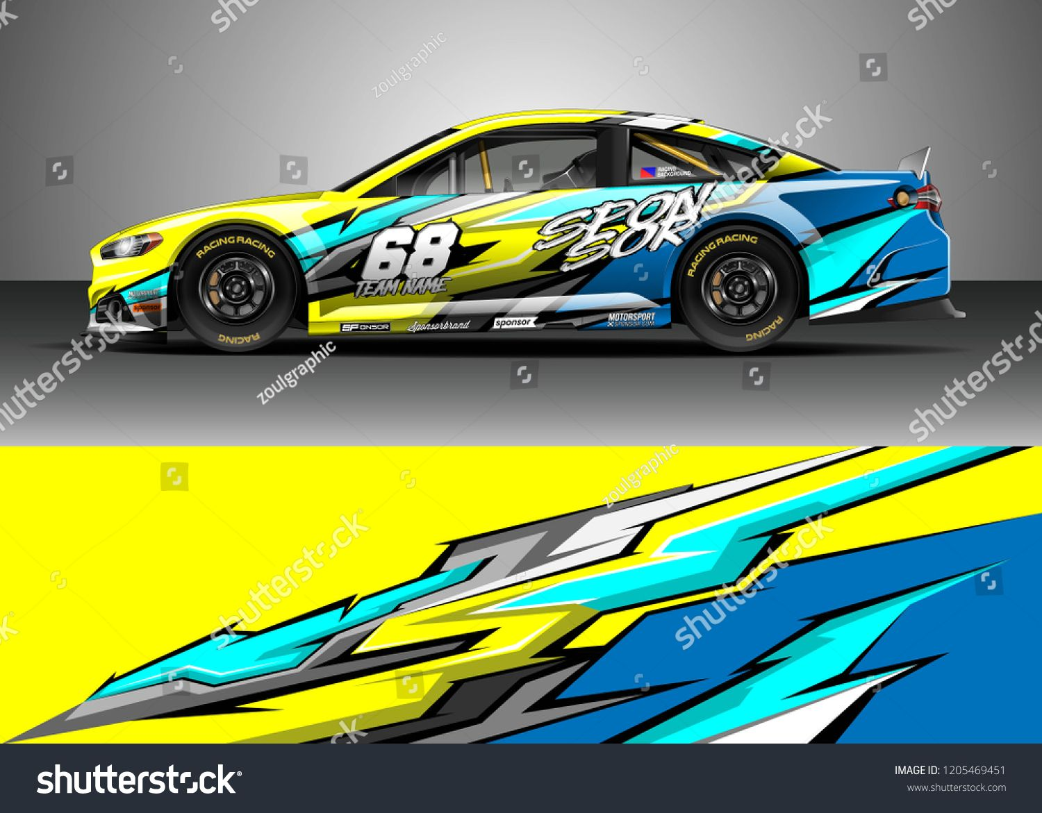 Racing Car Wrap Design Vector Graphic Abstract Stripe Racing Background Kit Designs For Wrap Vehicle Race Car Ral Car Wrap Racing Car Design Car Wrap Design