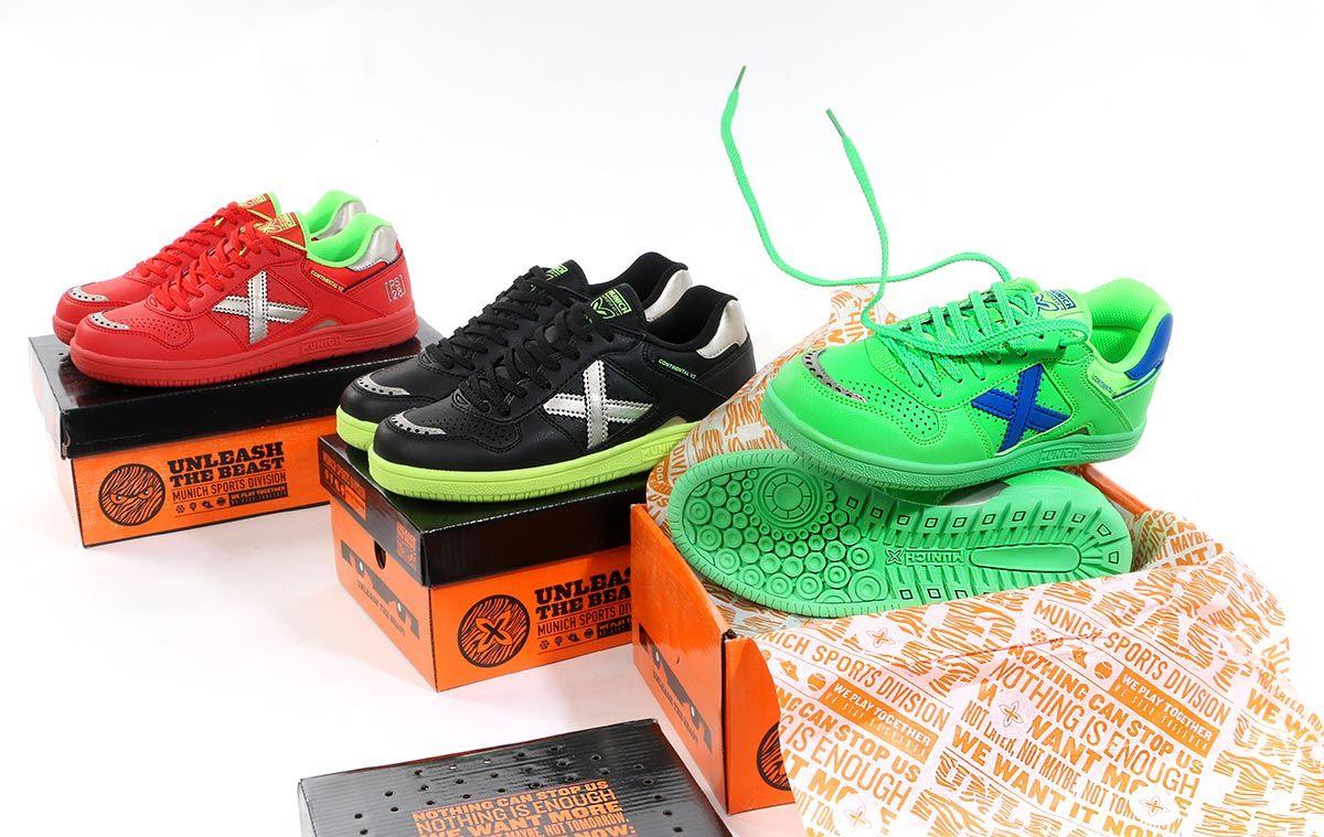 aa32388bf Zapatillas de fútbol sala para niño Munich. Nuevos colores para las  Continental V2 Kid #munichsports #futbolmania #futbolmaniakids #futsal