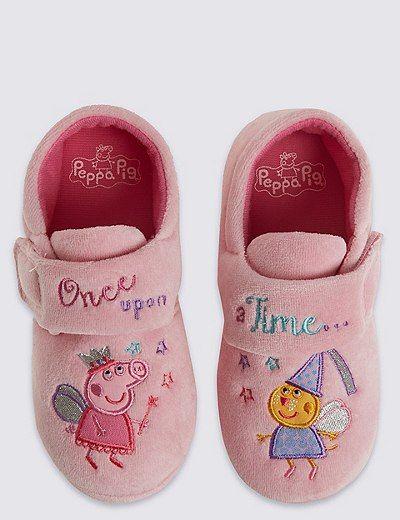 Kids Peppa Pig™ Applique Slippers