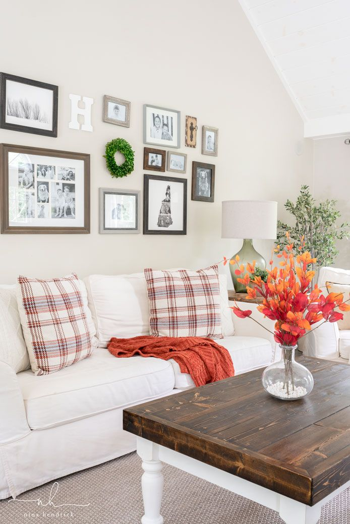 Classic Fall Family Room Decor images
