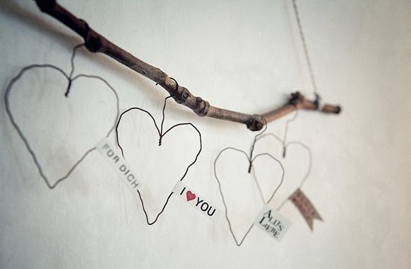 Wire hearts with text,Please click for a large picture - CAR furniture Items can easily obtai...