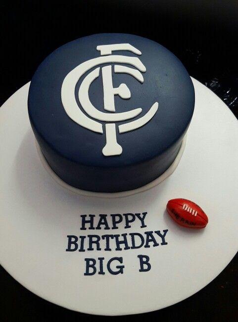 Carlton Cake Afl Cake Lucass Cake Pinterest Cake Cake