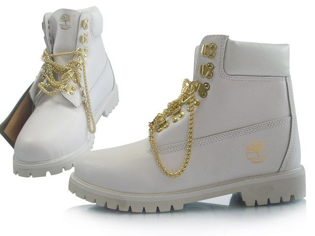 Men's Custom 6-Inch Premium Boot White Gold outlet in our ...