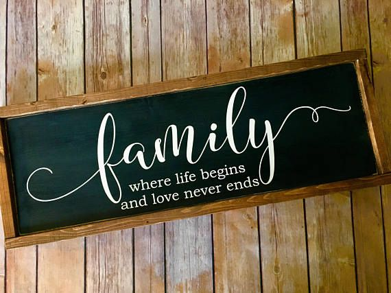 Photo of Family Wood Sign – Farmhouse style – Rustic Decor – Framed wood sign – Family Room – Wedding Gift