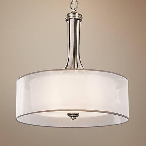 Kichler lacey 20 wide antique pewter pendant light r2881 lamps plus