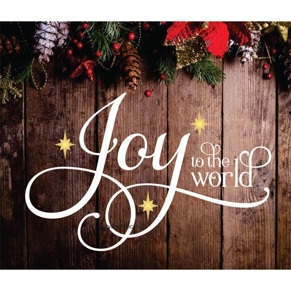 Joy To The World Decal Christmas Wall Decal Holiday Decoration Joy 10 Liked On P Christmas Wall Decal Christmas Wall Decals Holidays Christmas Wall Art