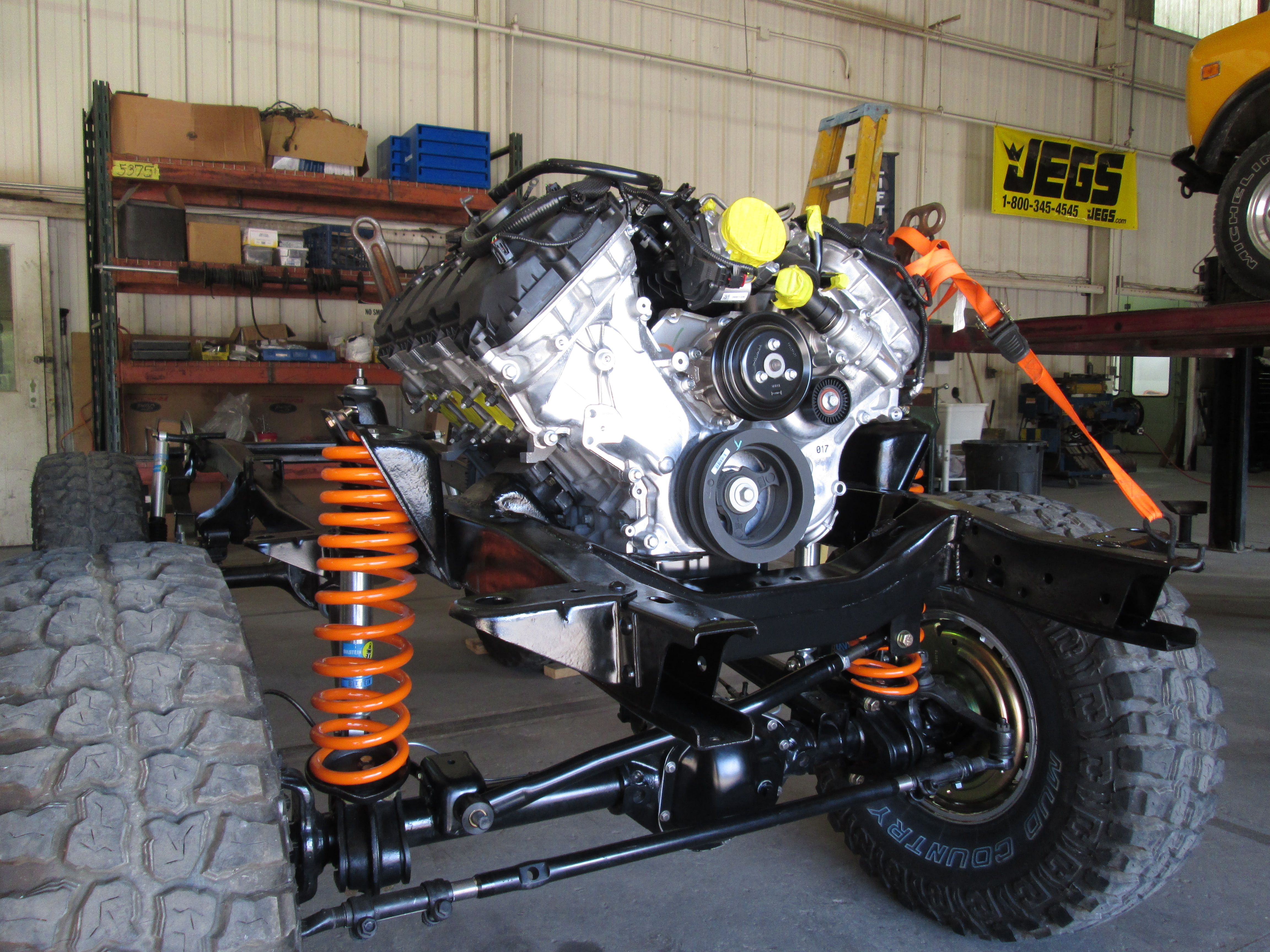 Early Classic Ford Bronco Coyote 5.0 Engine Install... By ...