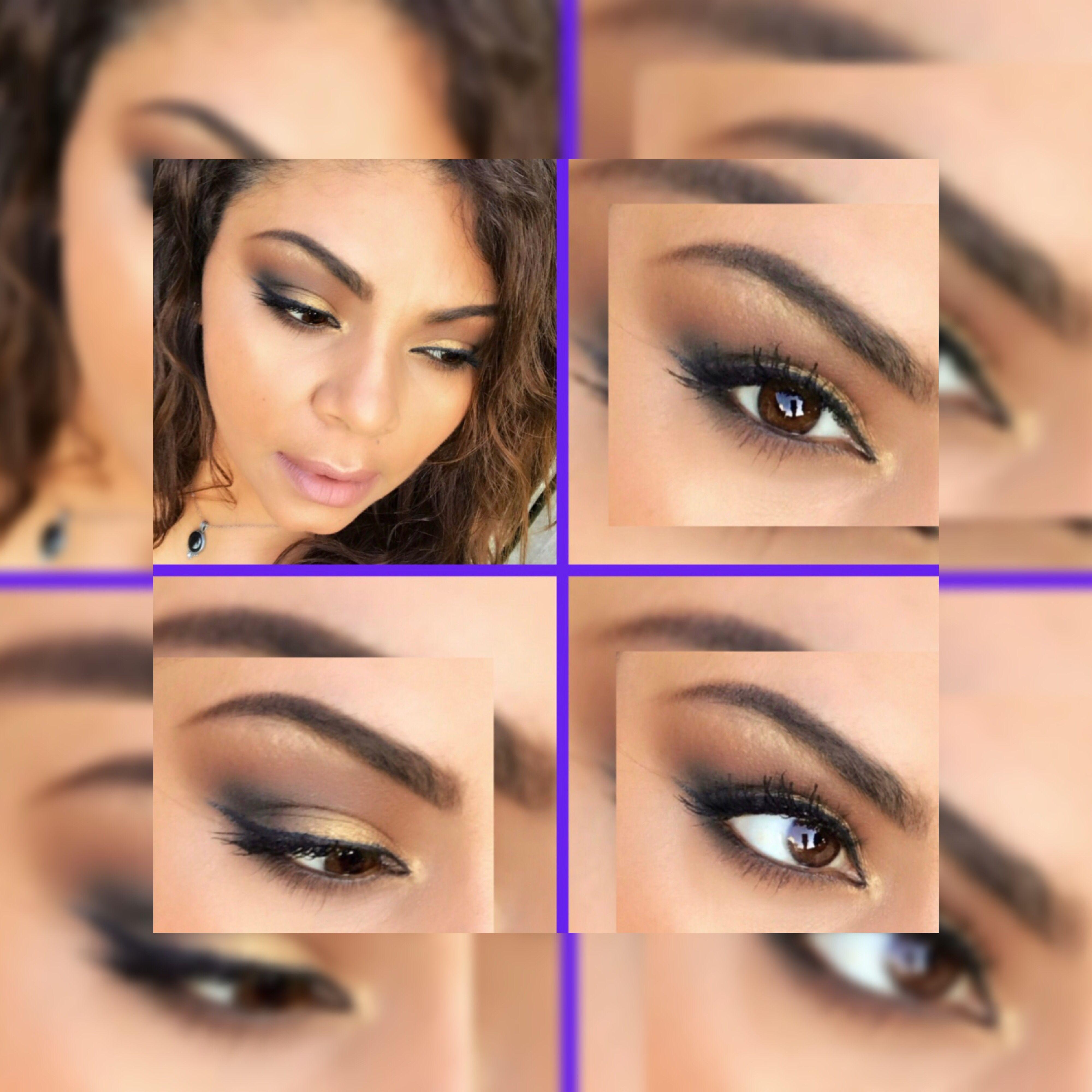 Gold & Black Soft Glam Makeup Look Soft glam makeup