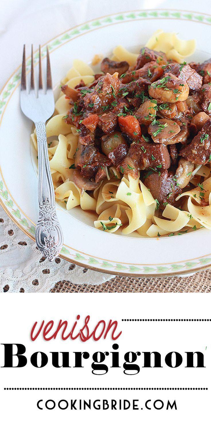 Venison Bourguignon [Venison Stew] | The Cooking Bride