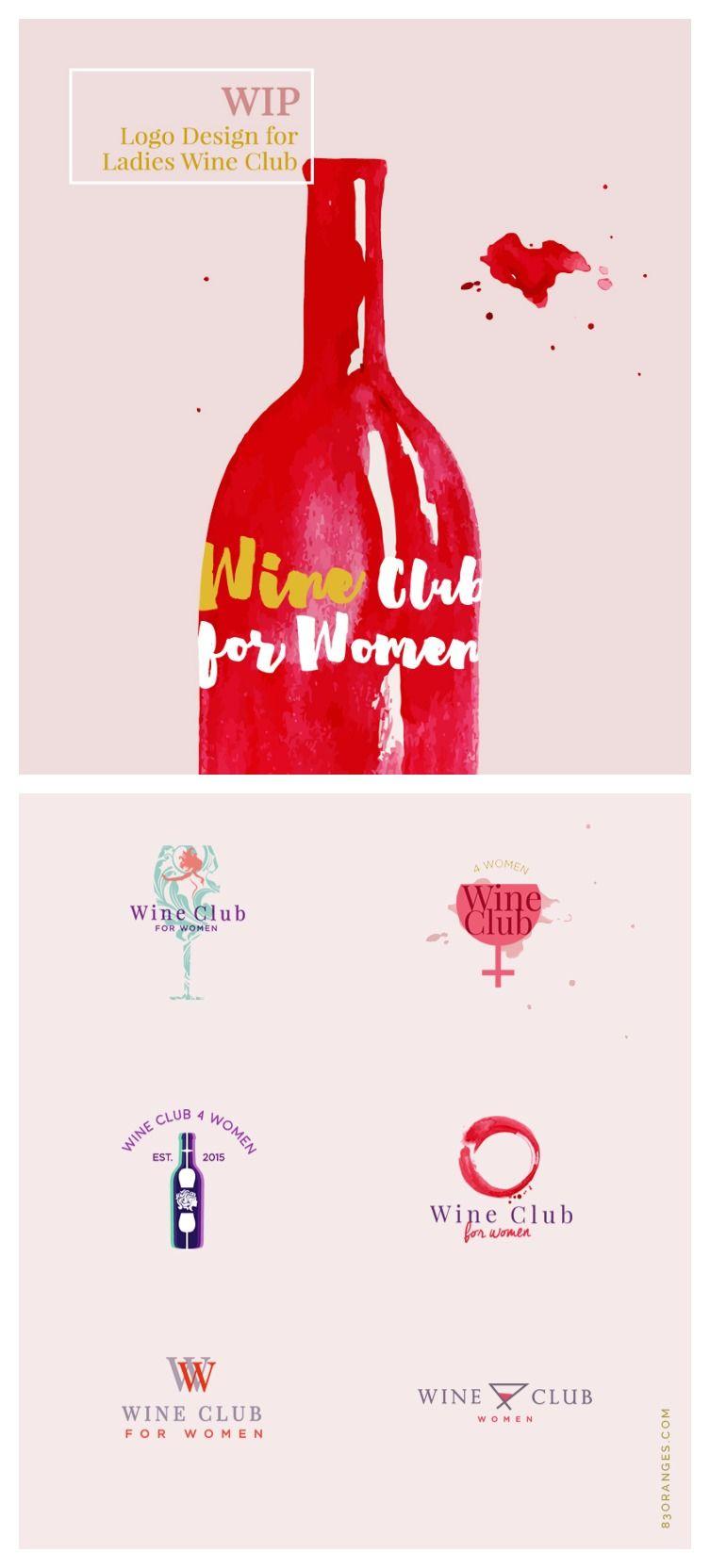 Creative Logo Design For Ladies Wine Club Creative Logo Logo Design Logo Design Creative