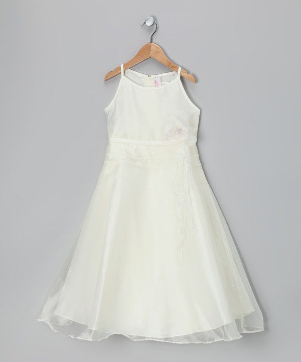 Simple Wedding Dress For Godmother: Take A Look At This Ivory Satin A-Line Dress