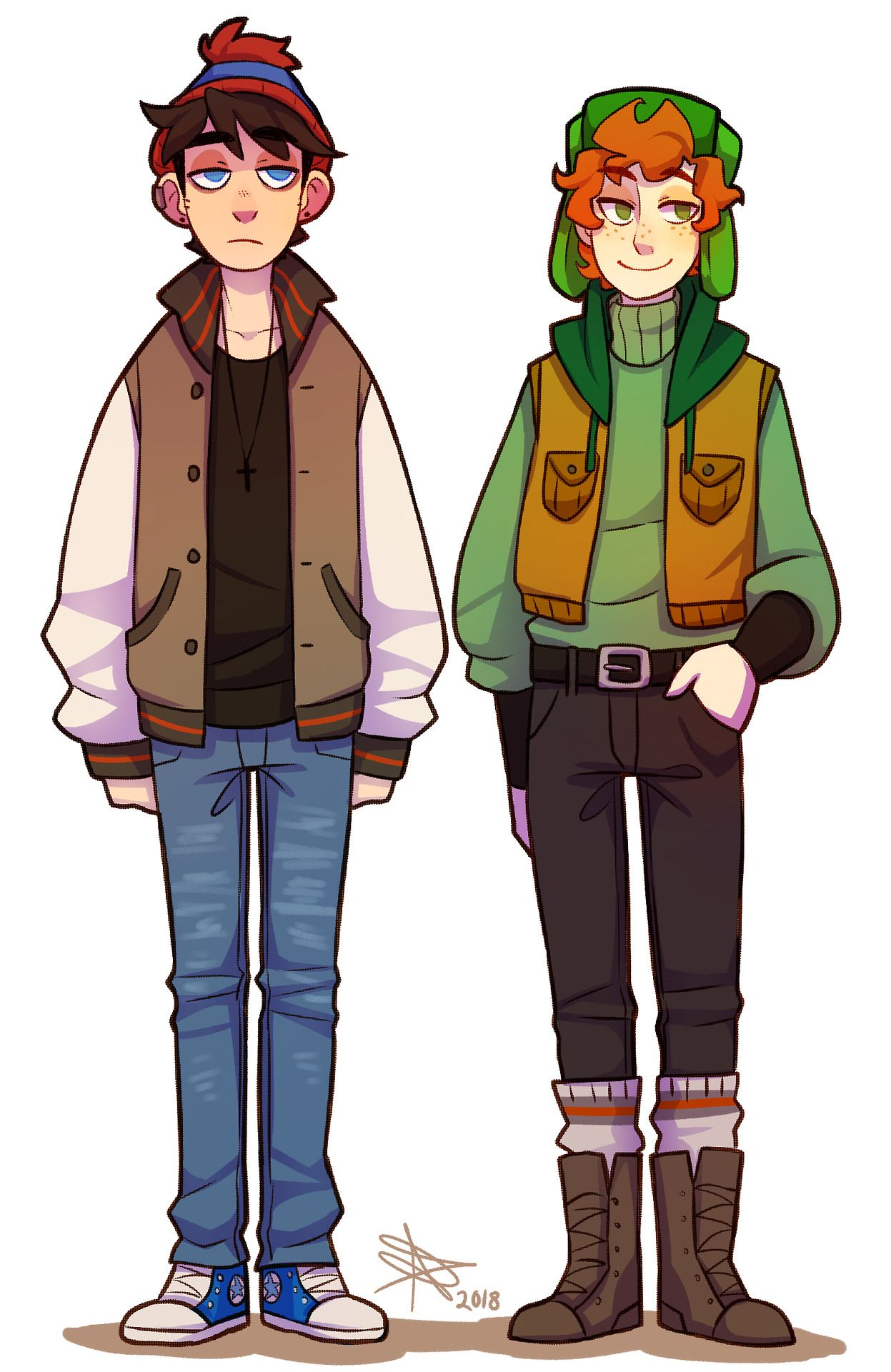 Older Stan And Kyle Designs 3c Style South Park Kyle South Park South Park Anime