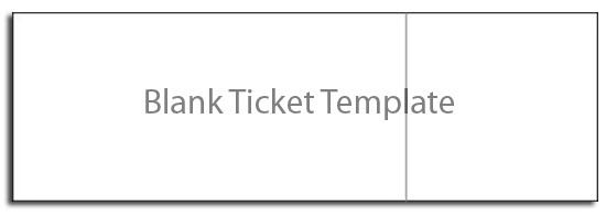 Blank Ticket Template,free Ticket Template