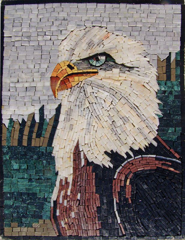 An101 Marble Mosaic American Eagle Tile