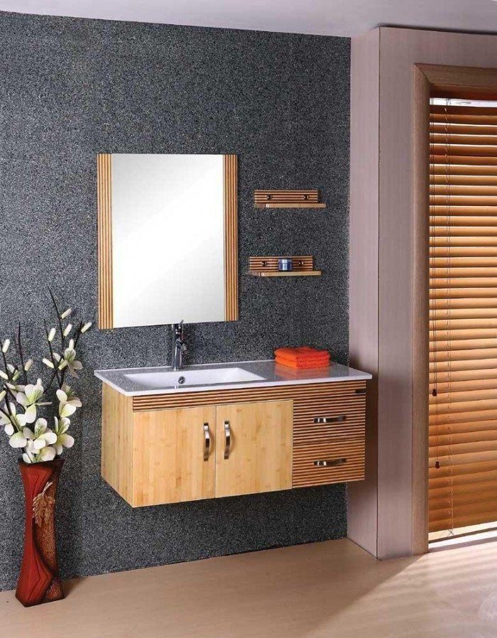 Bamboo Bathroom Vanity highly-minimalist-lovely-wall-mounted-bamboo-bathroom-vanity