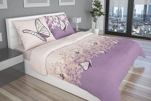 Luxusné obliečky Papilio v ružovo-fialových tónoch s motívom elegantných motýľov vnesú do vašej spálne romantickú atmosféru. Tu http://goo.gl/S6niAY
