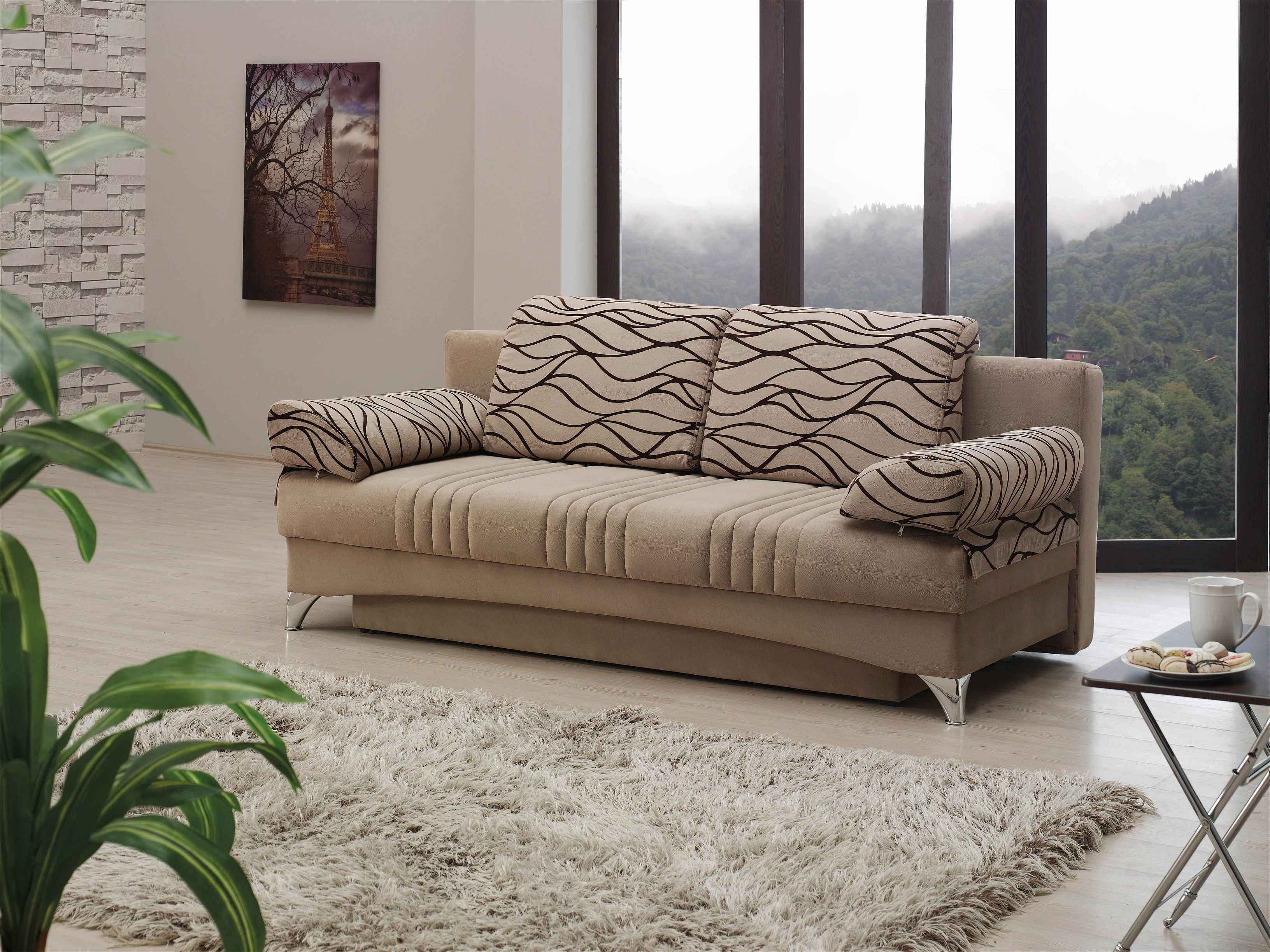 Daisy Sofa Bed U2013 Light Brown