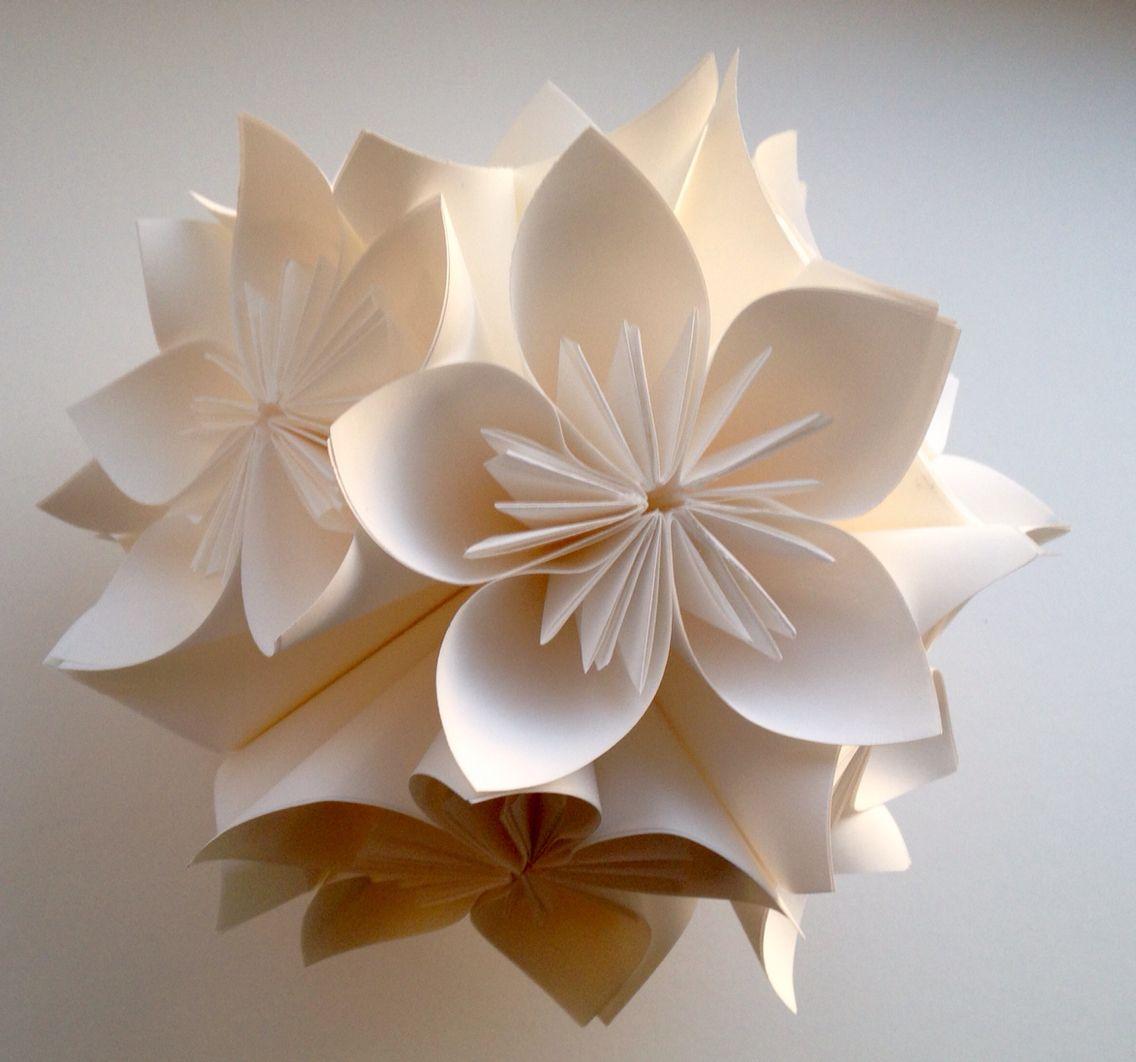 Kusudama Flower Diy Pinterest Diy Origami Flower And Origami