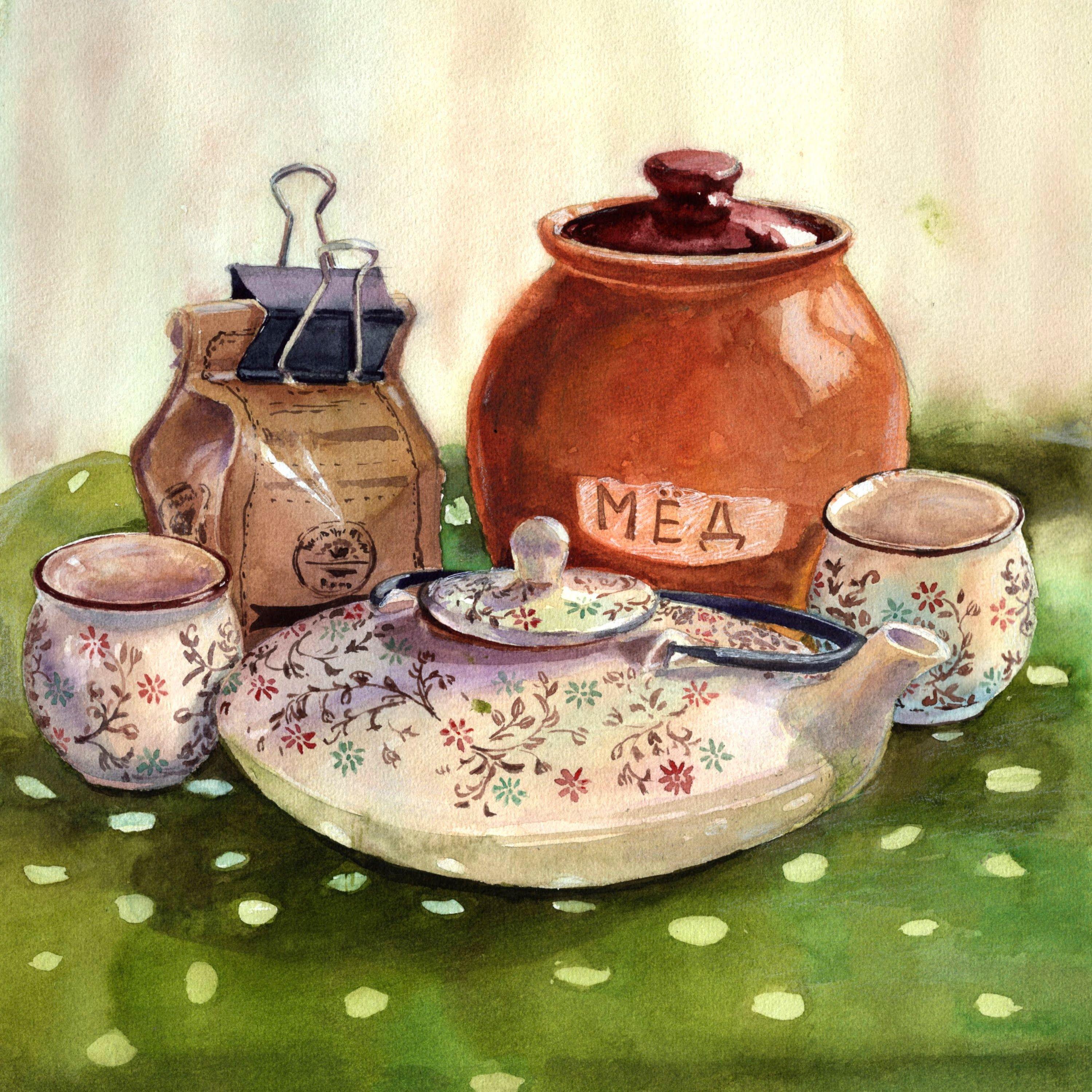 Галерея спасибо, веселые картинки с чаепитием