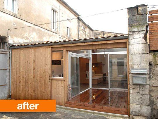 Converted Garage Apartment before & after: old garage converted into tiny french home — fair