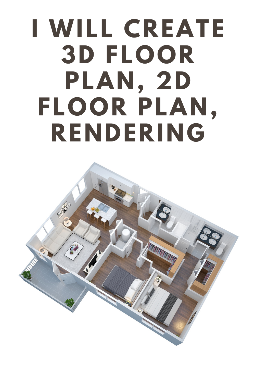 I Will Create 3d Render Realistic 3d Floor Plan Exterior Interior Floor Plans 5 Bedroom Barn Homes Floor Plans Floor Plans Single Story House Floor Plans