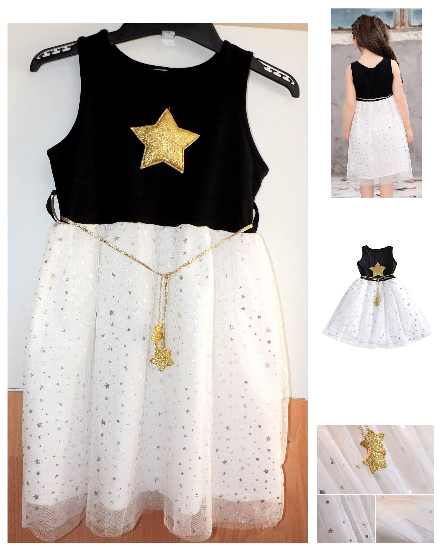 Kinderkleid Gr. 128/134 Partykleid Geburtstagskleid Tunika ...