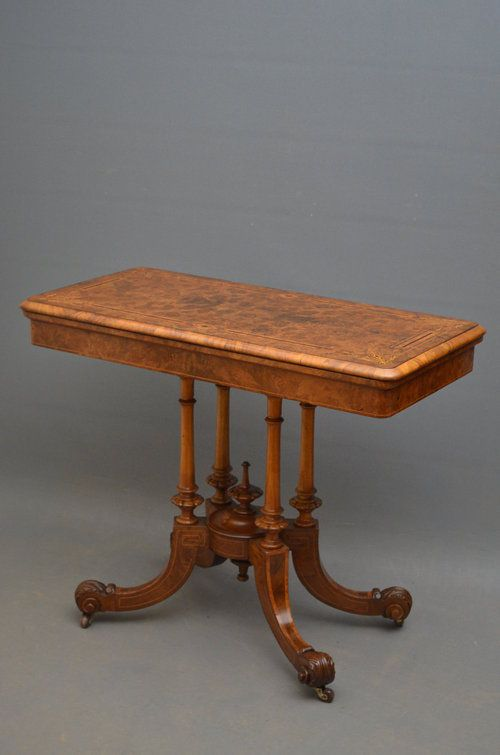 Victorian Games Table Walnut Card Table Antique Game Table Victorian Games Table Games