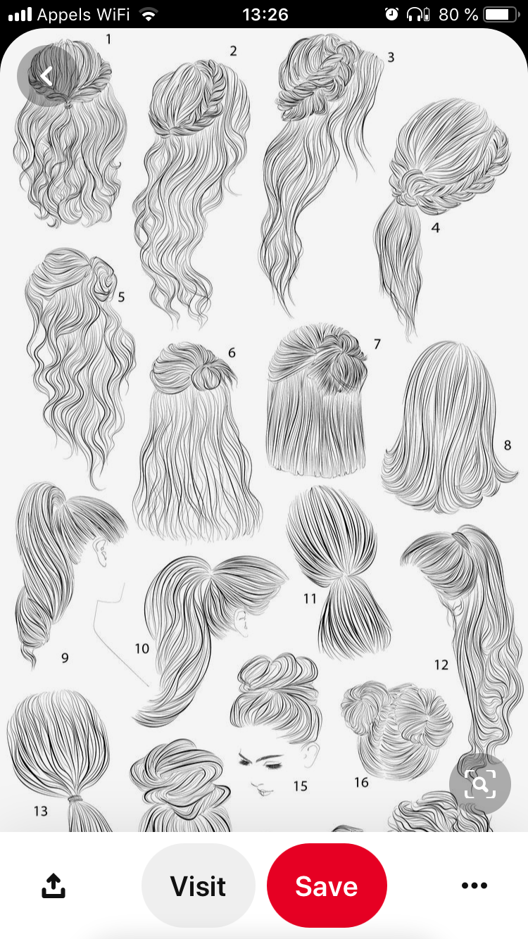 Well Done Hairstyle Sketches For Girls In 2020 Hair Sketch How To Draw Hair Womens Hairstyles