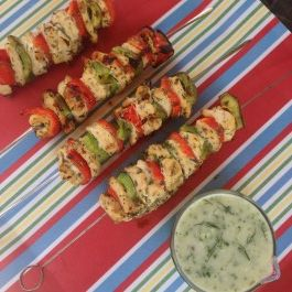 Easy Greek Chicken Kebabs