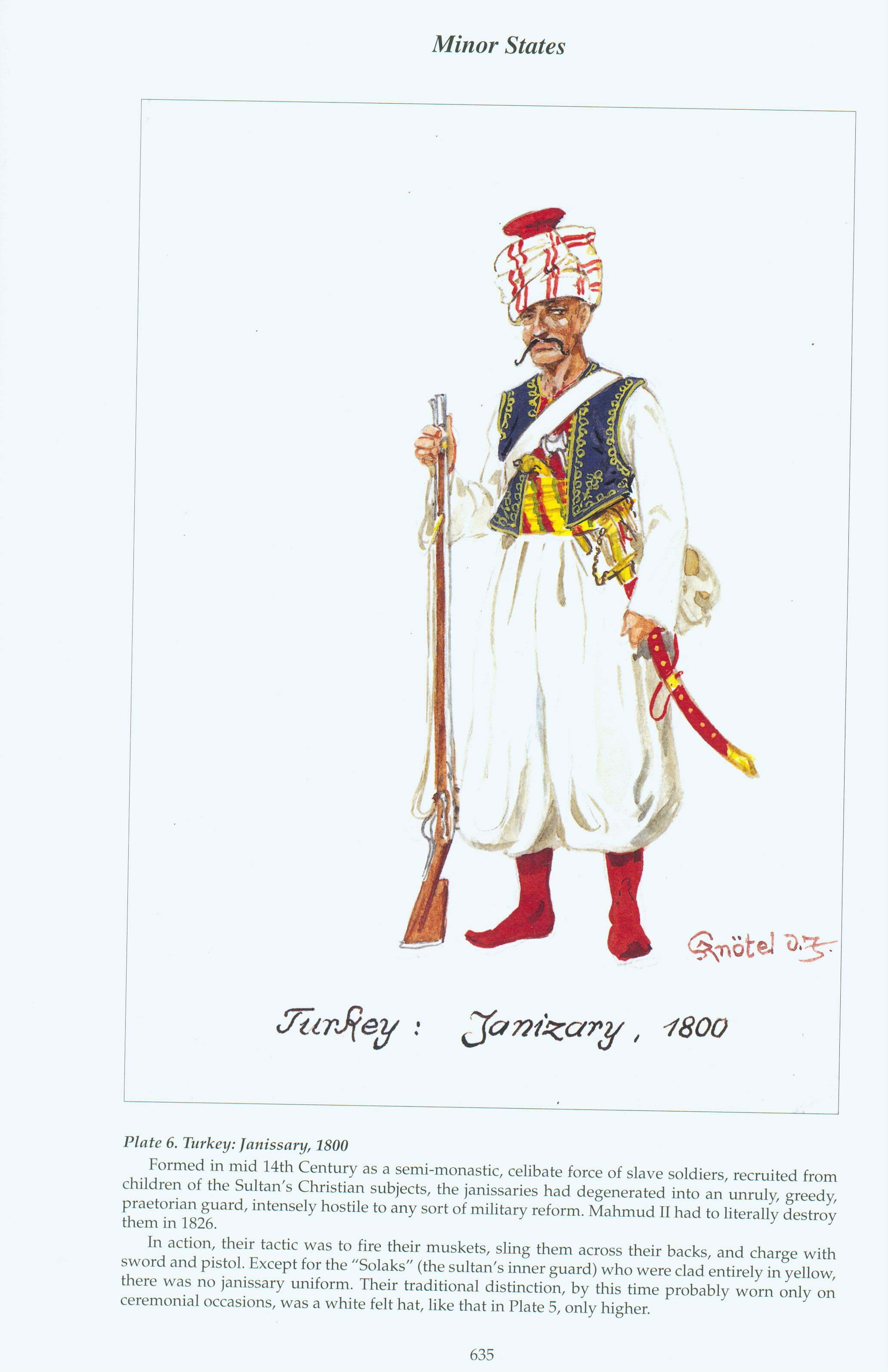 Minor States: Plate 6. Turkey: Janissary, 1800 ...