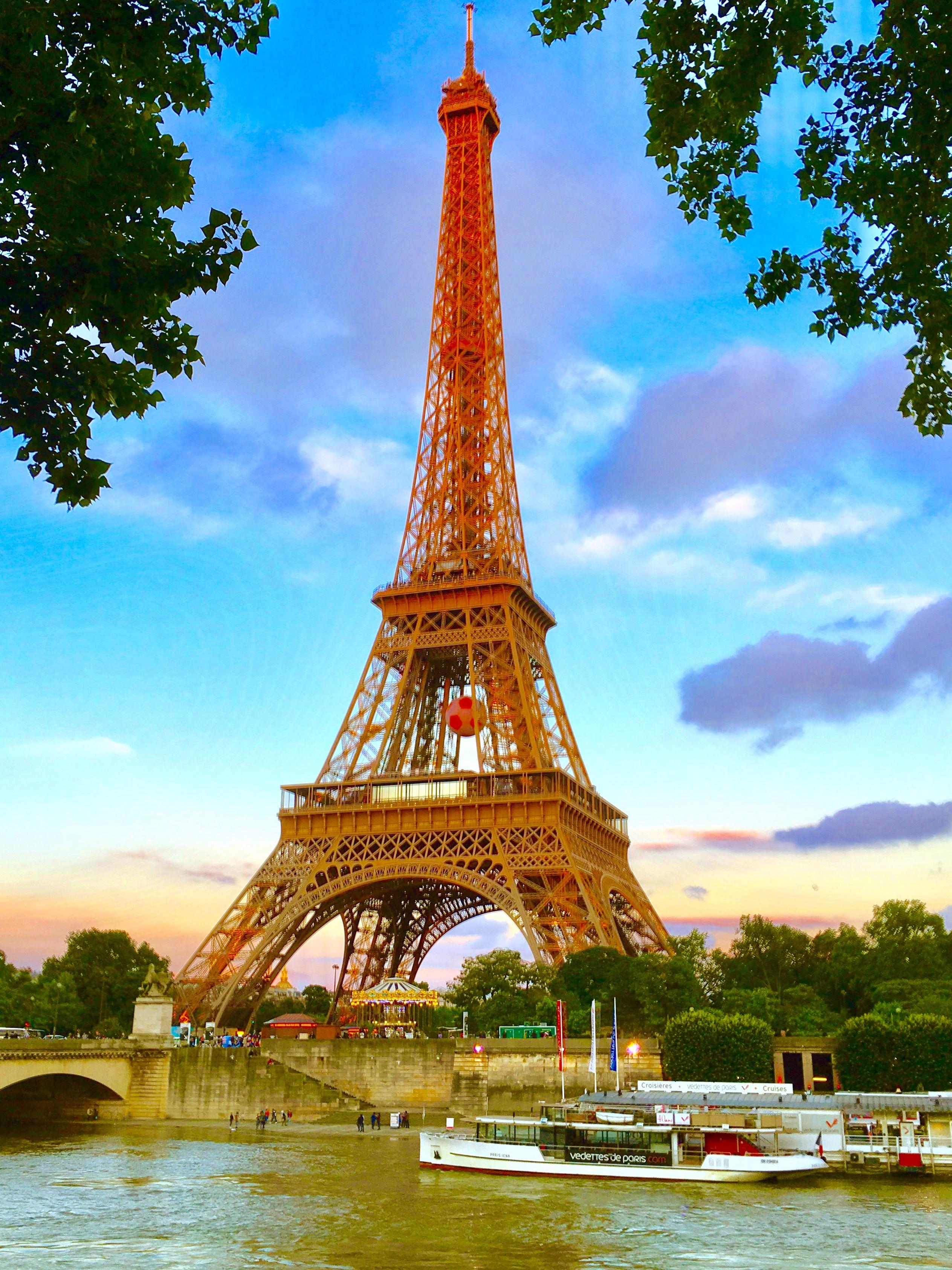 Обои Эйфелева башня, Облака, вид, лодки, красиво. Города foto 15