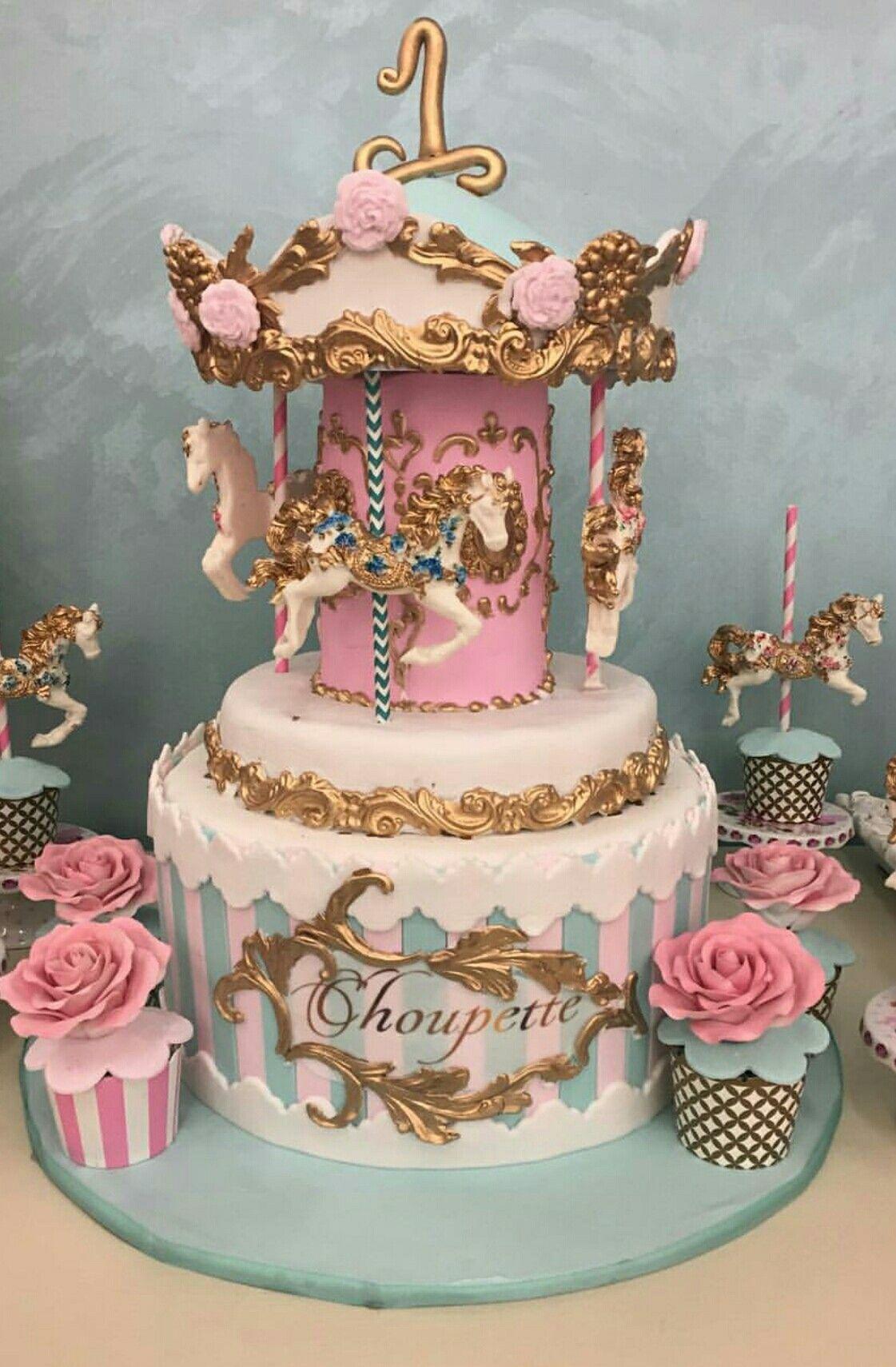 Brilliant Vintage Carousel Cake With Images Carousel Cake Party Cakes Personalised Birthday Cards Akebfashionlily Jamesorg