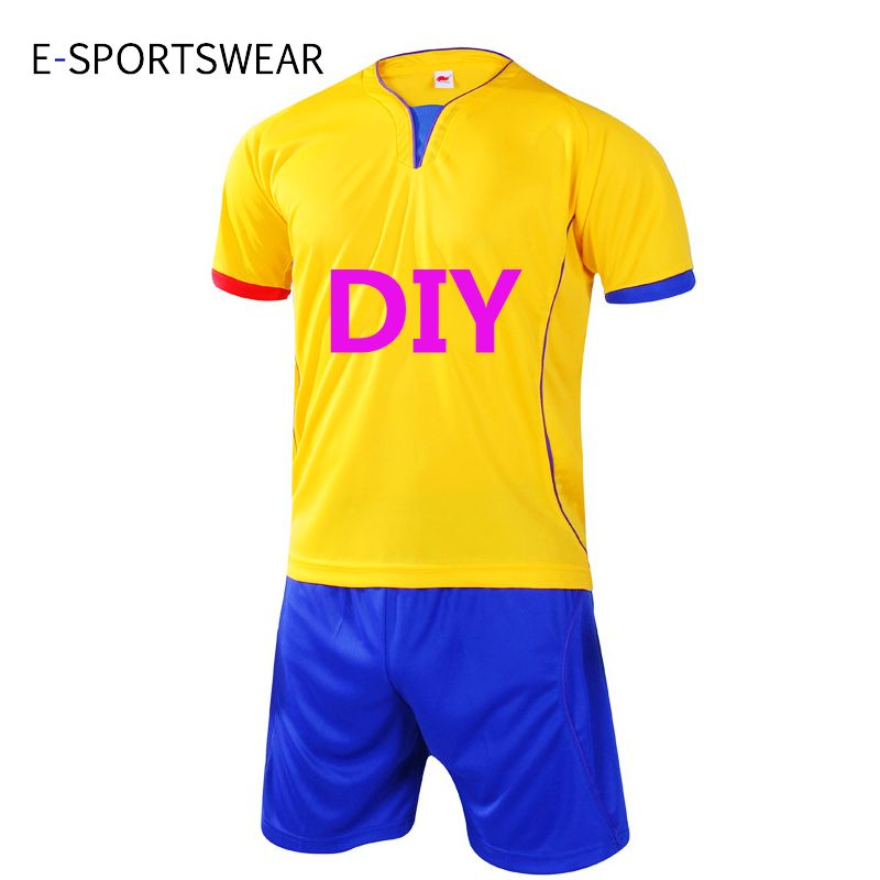 a1cceb778fb New Professional Customize Adult kids Breathable Soccer Set Soccer Jerseys  Uniforms Children Football Kit Shirt Tracksuit