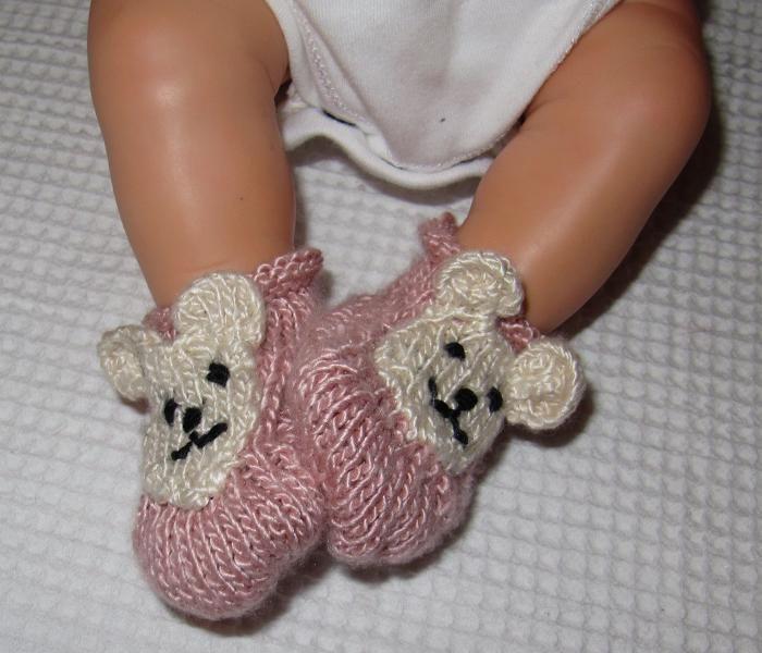 Baby Bear Silk Boots Knitting Pattern