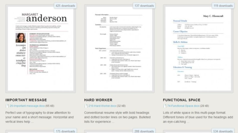 Resume Templates For Microsoft Word Download 275 Free Resume Templates For Microsoft Word  Free