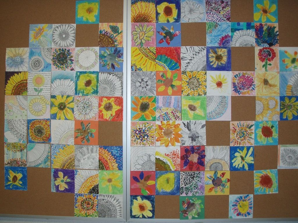 Sunflower Inspired School Mural Created With Miss