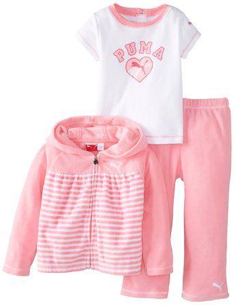 3e8ec7069c321 Amazon.com: PUMA Baby-Girls Infant 3 Piece Pant Set: Clothing ...