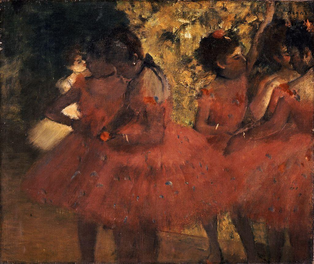 Dancers in Red Skirts -  Edgar Degas