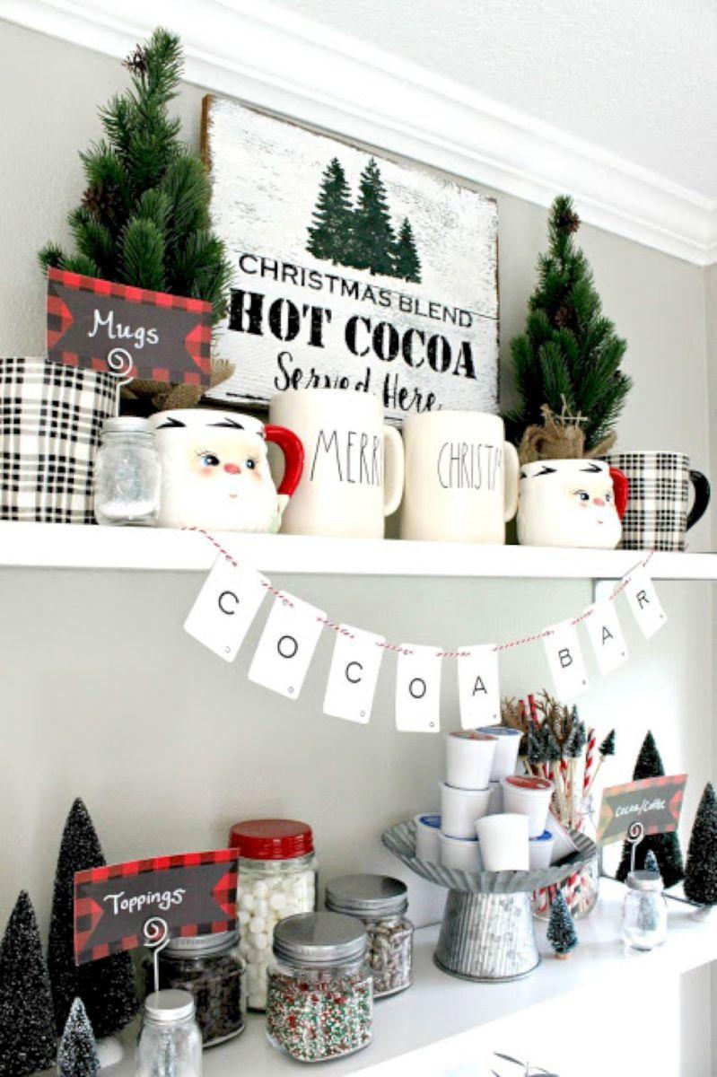 44 Cute Farmhouse Christmas Decorations Ideas | Decoration, Decor ...