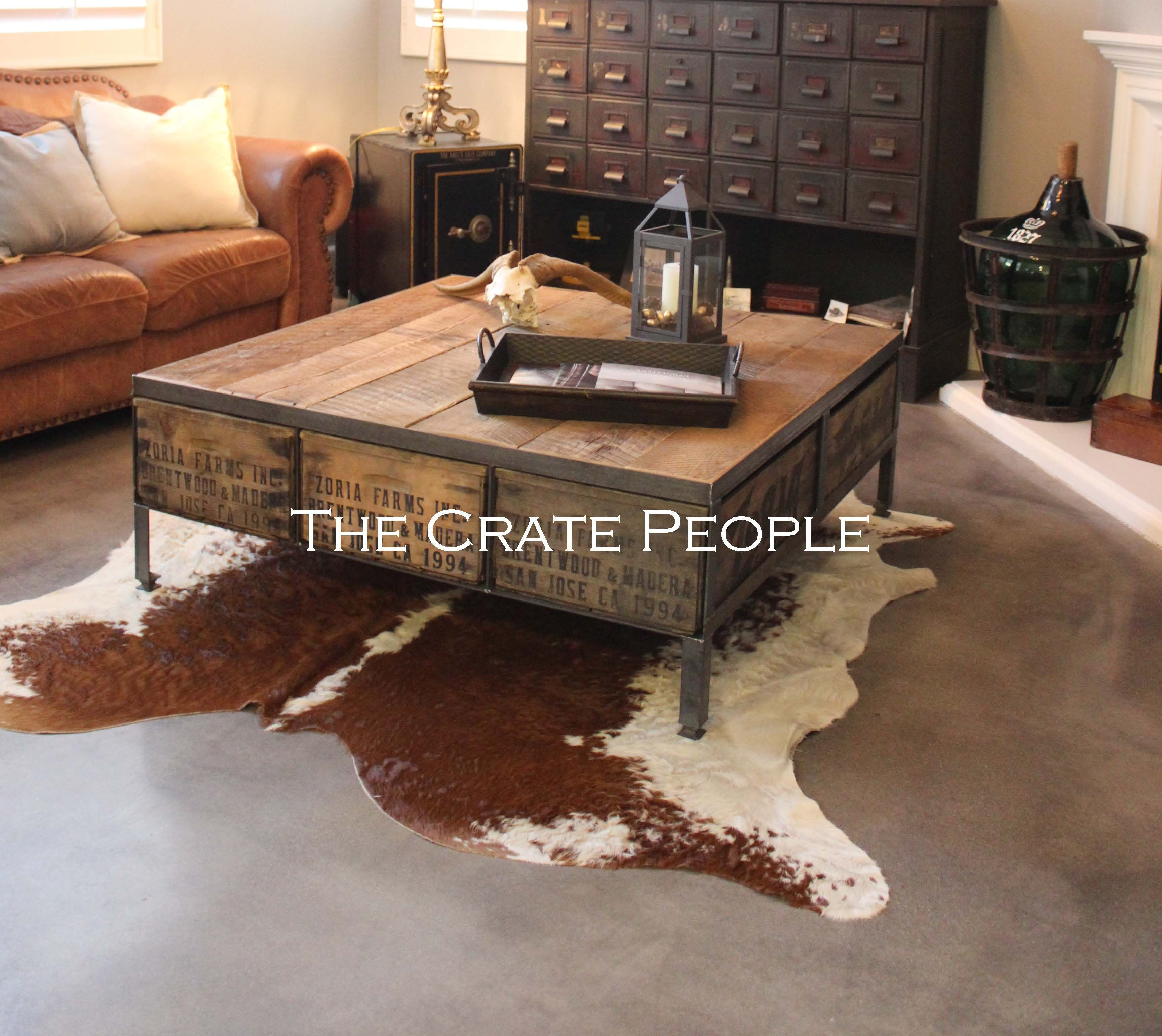 Rustic Glam Coffee Table Table Old Crates Crates