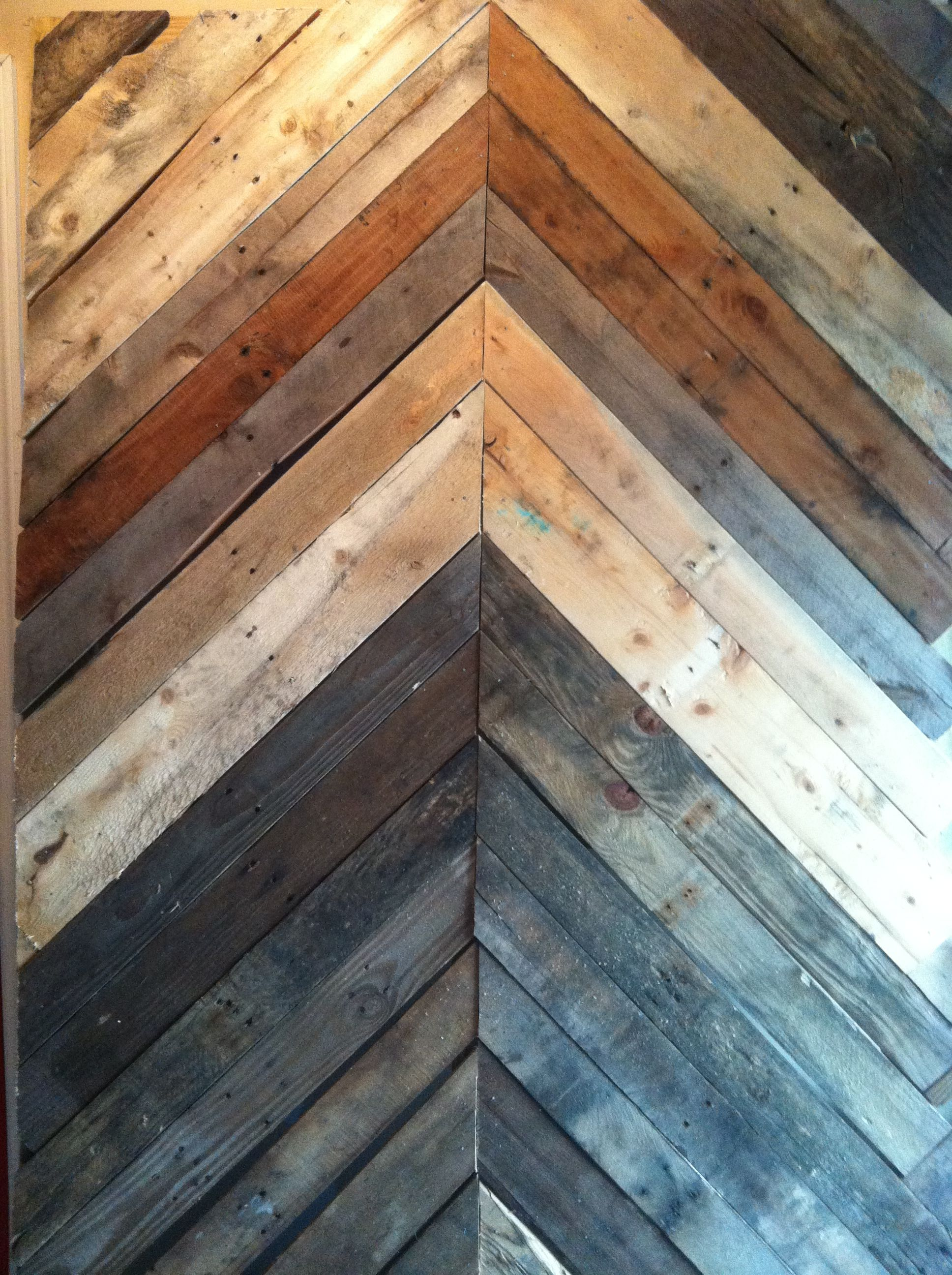 Wood Pallet Chevron Wall Diy Pallet Walls Diy Pallet