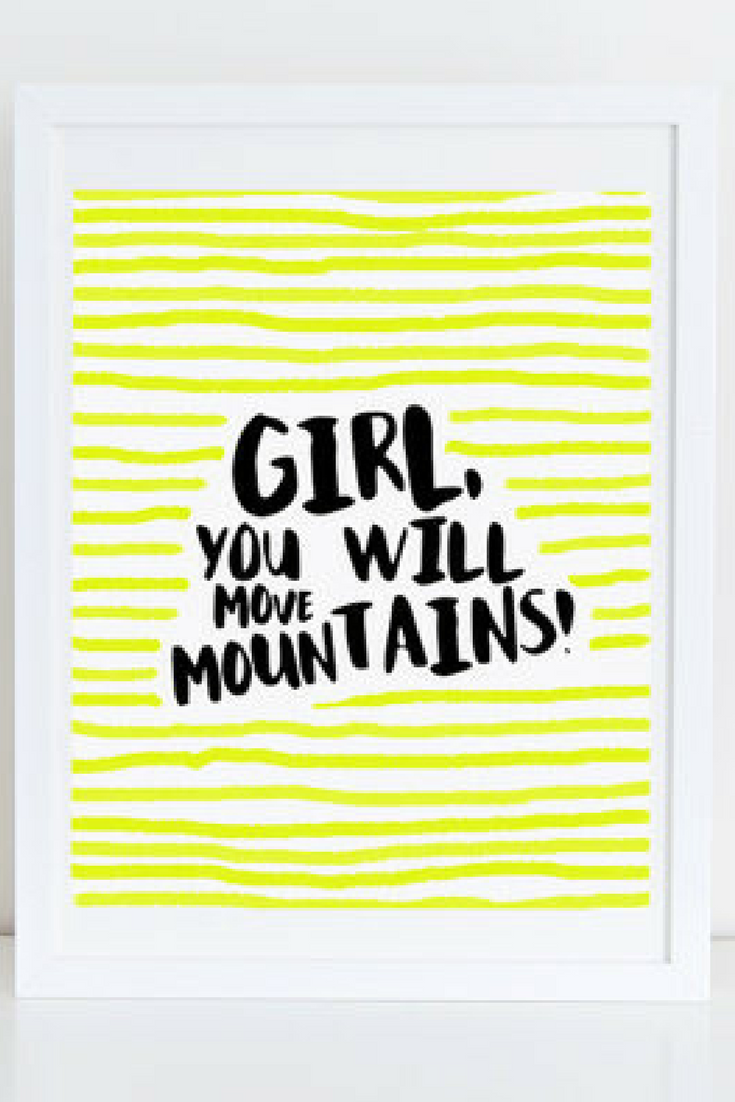 Girls Office Inspirational Quote Typography Print Office Gallery ...