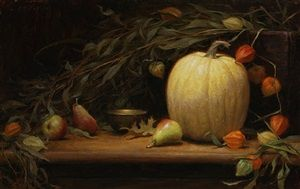grace-mehan-devito-autumn-still-life-with-pumpkin.jpg (300×189)